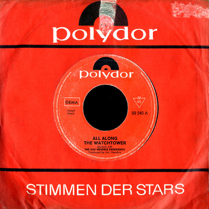 Discographie : 45 Tours : SP,  EP,  Maxi 45 tours - Page 5 1968%20Polydor%2059240-AllAlongTheWatchtower-CanYouSeeMeFront%20Germany