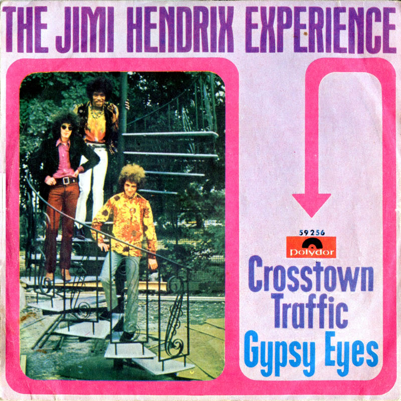 Discographie : 45 Tours : SP,  EP,  Maxi 45 tours 1968%20Polydor59256CrosstownTraffic-GypsyEyesItaly