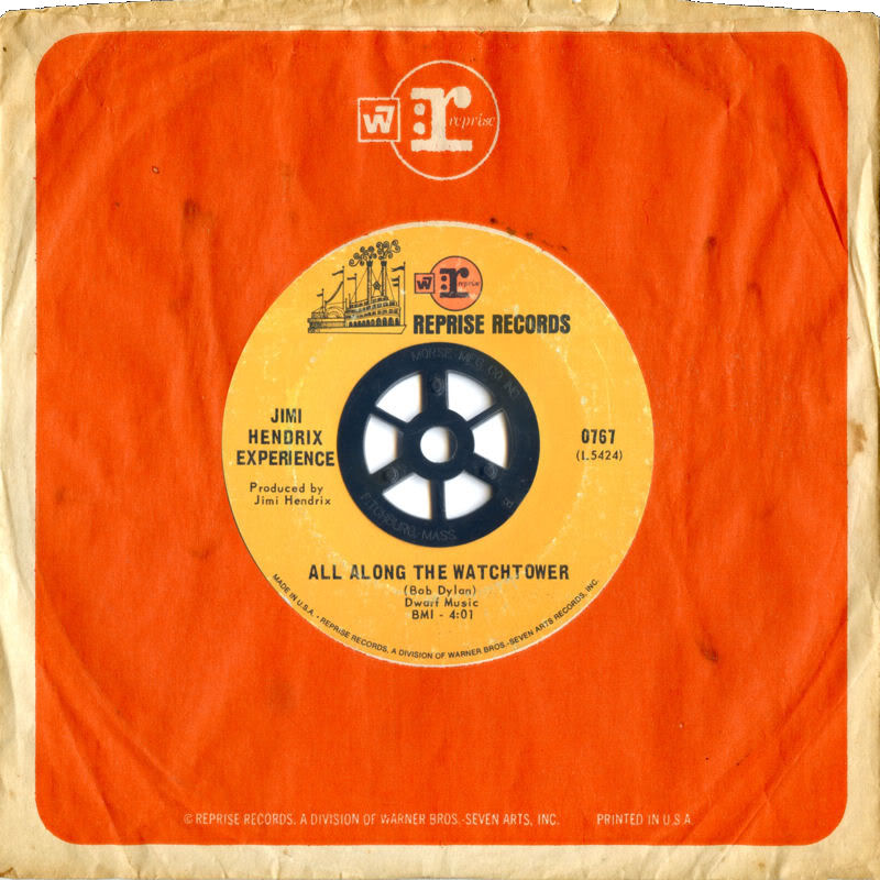 Discographie : 45 Tours : SP,  EP,  Maxi 45 tours 1968%20Reprise%200767-AllAlongTheWatchtower