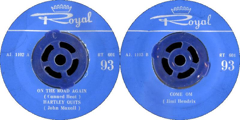 Discographie : 45 Tours : SP,  EP,  Maxi 45 tours - Page 6 1968%20Royal%20RT601-ComeOnLabelIran