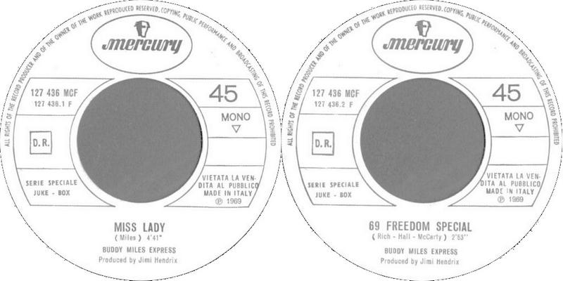 Discographie : 45 Tours : SP,  EP,  Maxi 45 tours 1969%20Mercury%20127.436%20-%20Buddy%20Miles%20Express