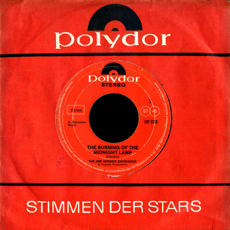 Discographie : 45 Tours : SP,  EP,  Maxi 45 tours - Page 5 1969%20Polydor%2059375-LetMeLightYourFire-TheBurningOfTheMidnightLampBack%20Germany