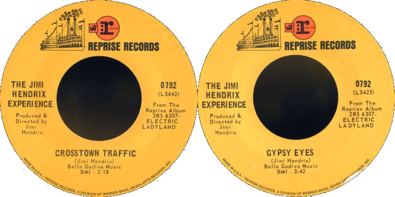 Discographie : 45 Tours : SP,  EP,  Maxi 45 tours 1969%20Reprise%200792-CrosstownTraffic-GypsyEyes