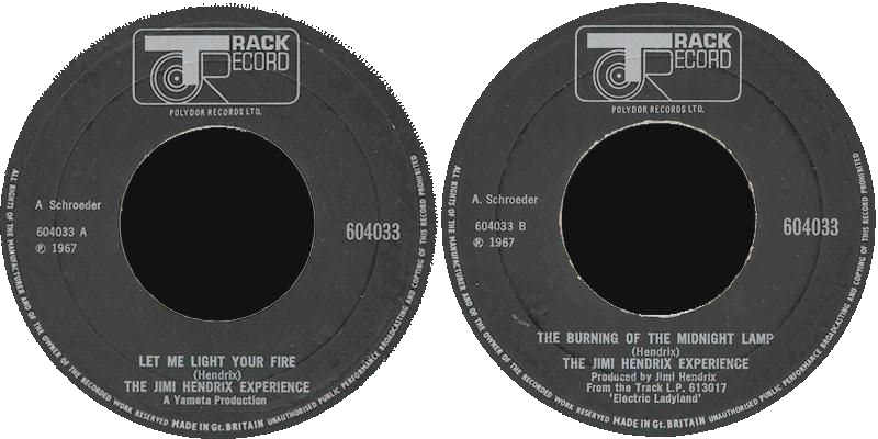 Discographie : 45 Tours : SP,  EP,  Maxi 45 tours - Page 3 1969%20Track%20604033-LetMeLightYourFire-TheBurningOfTheMidnightLamp
