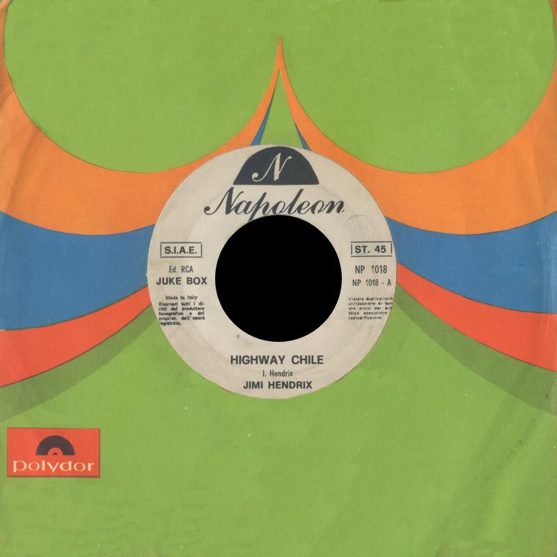 Discographie : 45 Tours : SP,  EP,  Maxi 45 tours 1970%20NapoleonNP1018PurpleHaze-HighwayChileFront