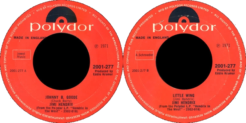 Discographie : 45 Tours : SP,  EP,  Maxi 45 tours 1971%20Polydor%202001277-JohnnyBGoode-LittleWing