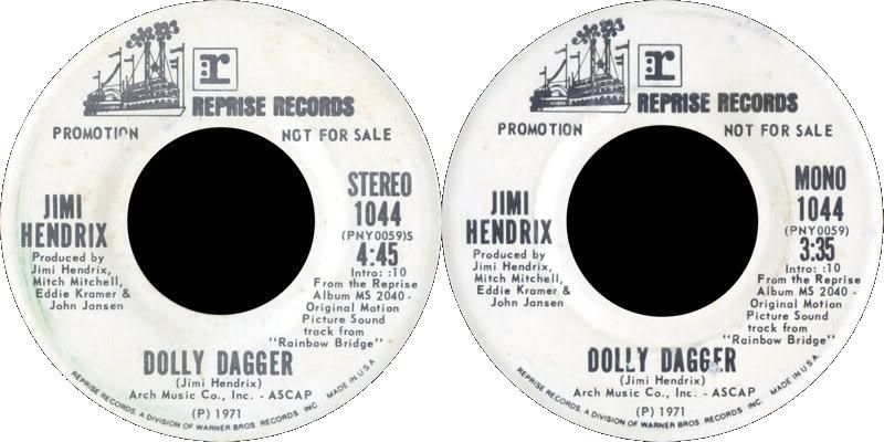 Discographie : 45 Tours : SP,  EP,  Maxi 45 tours 1971%20Reprise%201044-DollyDaggerstereo-DollyDaggermono