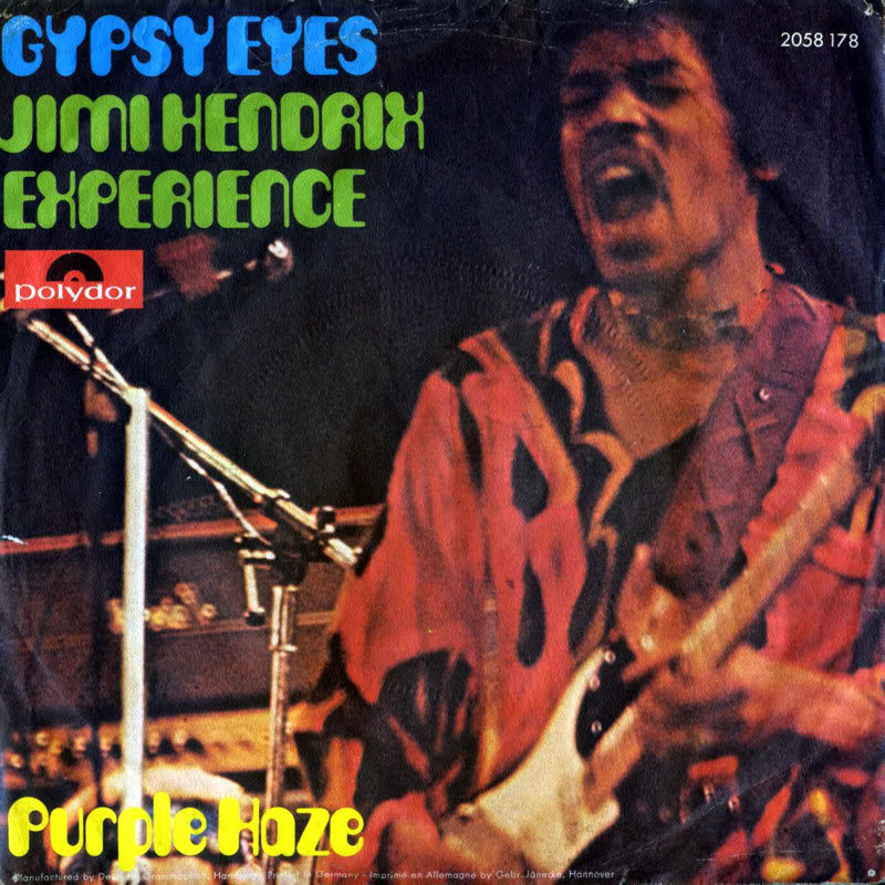 Discographie : 45 Tours : SP,  EP,  Maxi 45 tours 1972%20Polydor%202058178-GypsyEyes-PurpleHazeFrontGermany