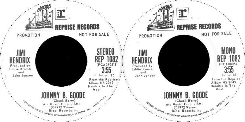 Discographie : 45 Tours : SP,  EP,  Maxi 45 tours 1972%20Reprise%20REP1082-JohnnyBGoodeStereoMono