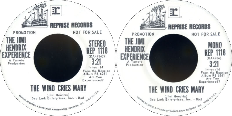 Discographie : 45 Tours : SP,  EP,  Maxi 45 tours 1972%20Reprise%20REP1118TheWindCriesMary