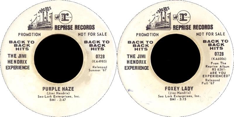 Discographie : 45 Tours : SP,  EP,  Maxi 45 tours 1975%20Reprise%20GRE0728promo-PurpleHaze-FoxyLady