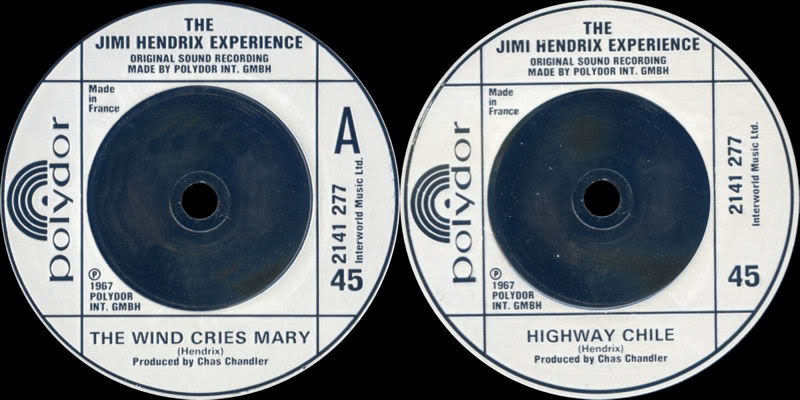 Discographie : 45 Tours : SP,  EP,  Maxi 45 tours 1980%20Polydor%202141277-TheWindCriesMary-HighwayChileEngland