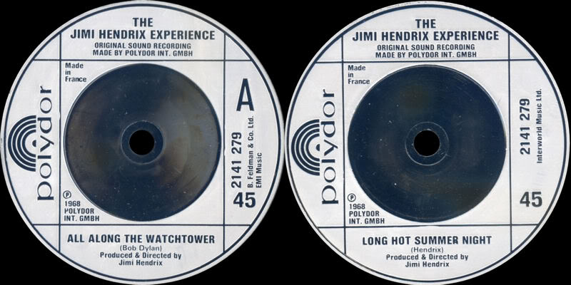 Discographie : 45 Tours : SP,  EP,  Maxi 45 tours 1980%20Polydor%202141279-AllAlongTheWatchtower-LongHotSummerNight