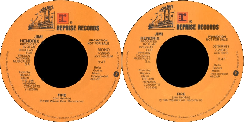 Discographie : 45 Tours : SP,  EP,  Maxi 45 tours - Page 9 1982%20Reprise%207-29845-Firemono-Firestereo