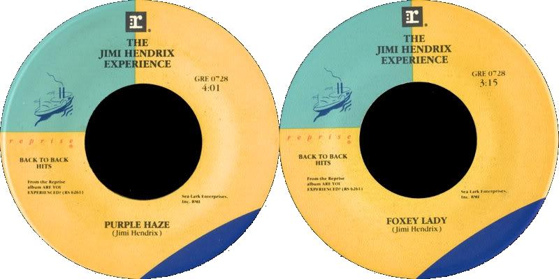 Discographie : 45 Tours : SP,  EP,  Maxi 45 tours 1983%20Reprise%20GRE0728-PurpleHaze-FoxeyLady