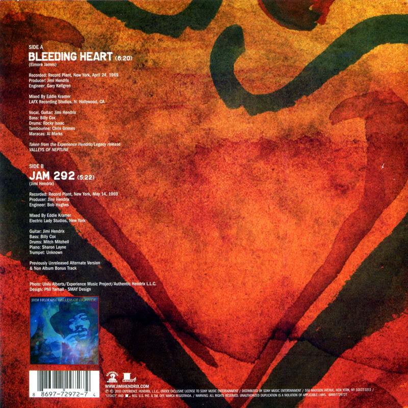 Discographie : 45 Tours : SP,  EP,  Maxi 45 tours 2010%20Sony%20SP%2088697%2072972-7Back