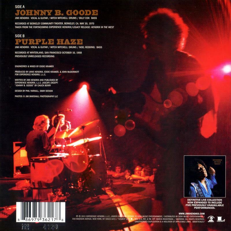 Discographie : 45 Tours : SP,  EP,  Maxi 45 tours - Page 6 2011%20Experience%20Hendrix%20886979362178%20JohnnyBGoode-PurpleHazeBack