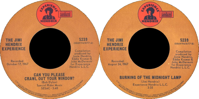 Discographie : 45 Tours : SP,  EP,  Maxi 45 tours - Page 9 2012%20Sundazed%20S239-CanYouPleaseCrawlOutYourWindow-BurningOfTheMidnightLampLabel