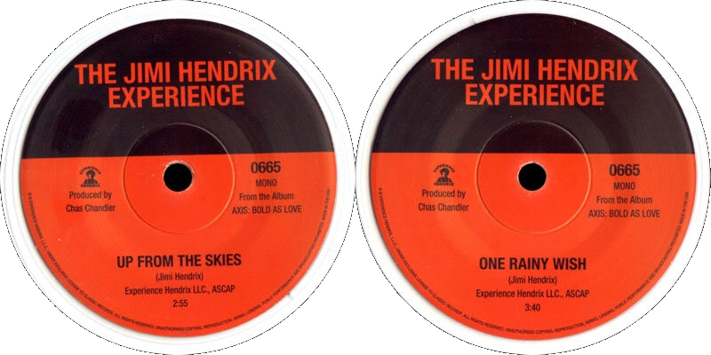 Discographie : 45 Tours : SP,  EP,  Maxi 45 tours - Page 2 2015%20Experience%20Hendrix%200665UpFromTheSkies-OneRainyWishLabel