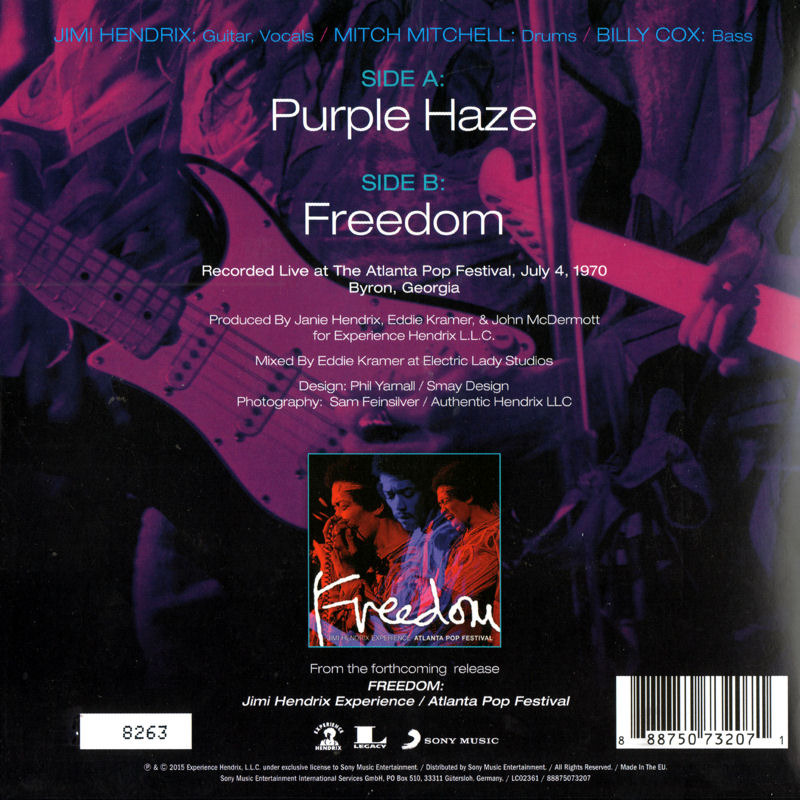 Discographie : 45 Tours : SP,  EP,  Maxi 45 tours - Page 11 2015%20Experience%20Hendrix%2088875073207%20-%20Purple%20Haze-Freedom%20Back