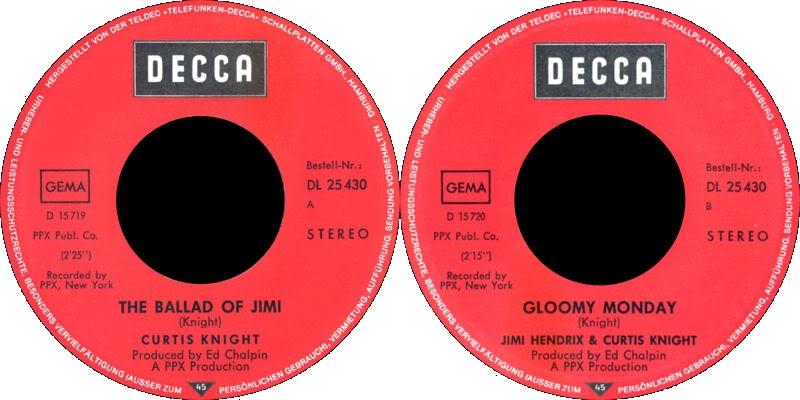 Discographie : Enregistrements pré-Experience & Ed Chalpin  - Page 3 DeccaDL25430-TheBalladOfJimiLabel