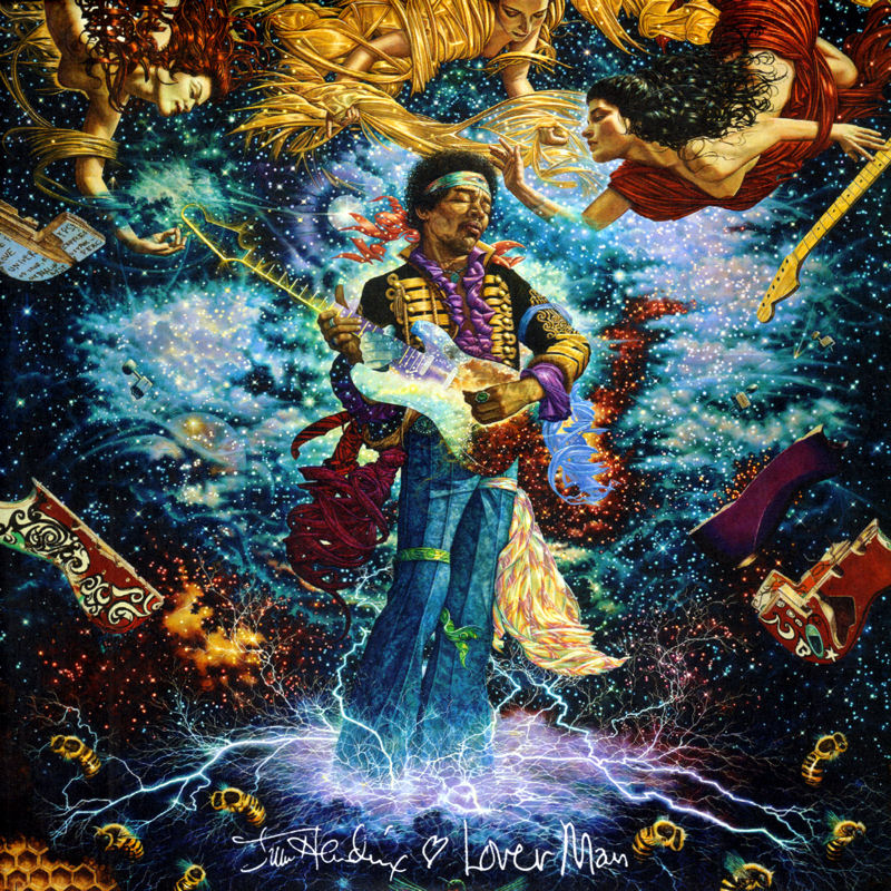 Discographie : 45 Tours : SP,  EP,  Maxi 45 tours Experience%20Hendrix%209075.82399-7%20Lover%20Man%20-%20Foxy%20Lady%20Front