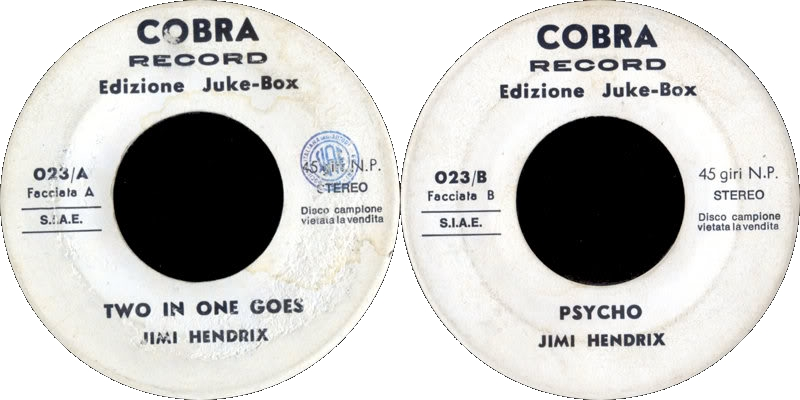 Discographie : Enregistrements pré-Experience & Ed Chalpin  - Page 4 Cobra023TwoInOneGoes-Psycho