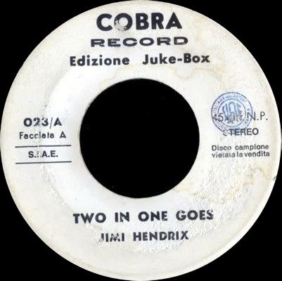 Discographie : Enregistrements pré-Experience & Ed Chalpin  Cobra023TwoInOneGoes-Psychovignette
