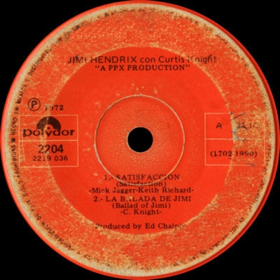 Discographie : Enregistrements pré-Experience & Ed Chalpin  Polydor2204-Satisfaccion-LaBaladaDeJimivignette