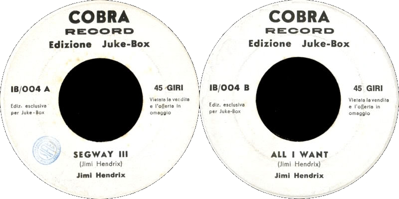 Discographie : Enregistrements pré-Experience & Ed Chalpin  - Page 4 SegwayIII-AllIWantlabel-CobraIB004