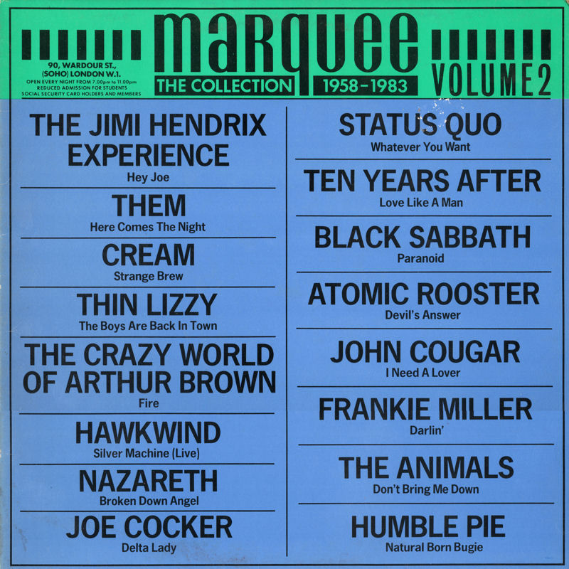 Discographie : Rééditions & Compilations EnglandRecordsMAR2-TheMarqueeCollectionFront_zps05a3627a