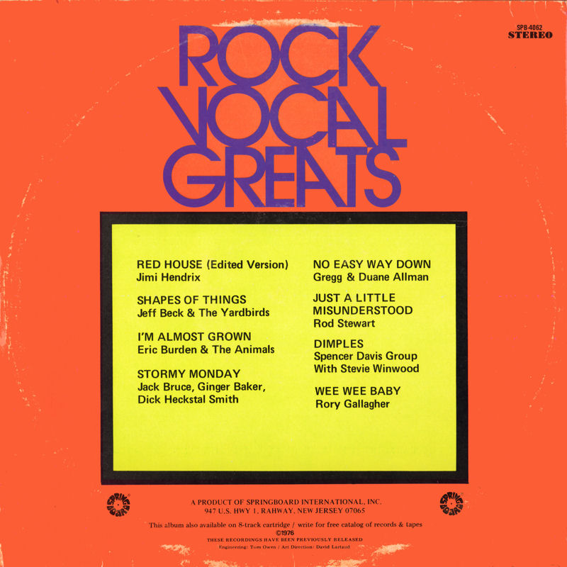 Discographie : Rééditions & Compilations - Page 11 SpringboardSPB4062-RockVocalGreatsBack_zps9f2bef19