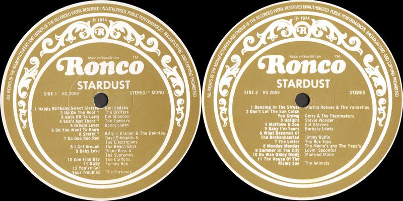 Discographie : Rééditions & Compilations - Page 11 StardustRoncoRG2009-2010Label1_zpse2d61dc8